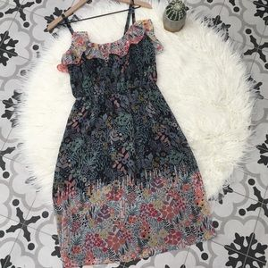 NWOT Maggy London Floral Ruffle Sundress